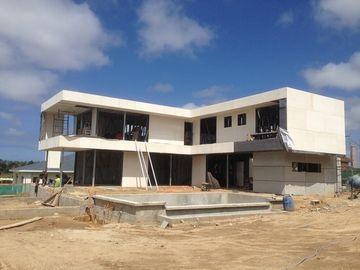 2 рассказ, плоская крыша, дом Уругвая полуфабрикат светлый стальной, светлые дома железного каркаса