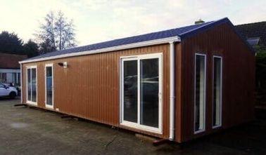Самомоднейший панельный дом плоской крыши, Pre-построенные дома придает огнестойкость передвижному дому, Бельгии ехпортировал передвижные дома